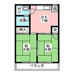 近藤コーポラス[2階]の間取り
