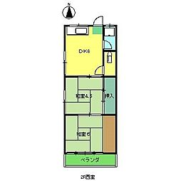 上村荘(薊野)[2階]の間取り