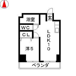 向陽ビル[2階]の間取り