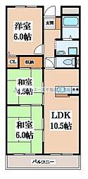 野崎駅前ビル[2階]の間取り