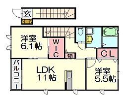 ヴィサージュ 2[2階]の間取り