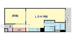 兵庫県神戸市東灘区住吉山手7丁目の賃貸マンションの間取り