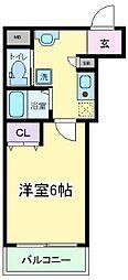 我孫子88マンション[201号室]の間取り