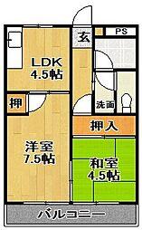 No.7山一ビル[203号室]の間取り