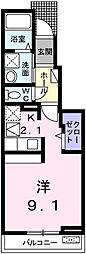 エルメーム[1階]の間取り