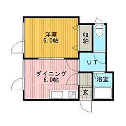 Kハイム野幌[2階]の間取り