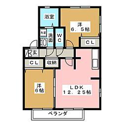レジデンス黒沢台C棟[2階]の間取り