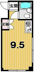 メゾンクレール[203号室]の間取り