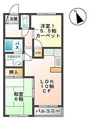 メゾン21大手[1階]の間取り