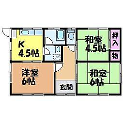 [一戸建] 愛媛県松山市北井門3丁目 の賃貸【/】の間取り