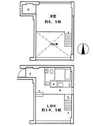 都営浅草線 大門駅 徒歩7分の賃貸マンション 4階1LDKの間取り