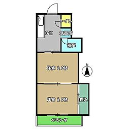 高知県高知市愛宕町4丁目の賃貸マンションの間取り