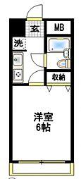 エクセル豊田[1階]の間取り
