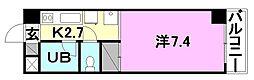 オクトワール松山土居田(東)[105 号室号室]の間取り