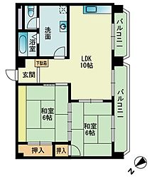 103大稲マンション[7階]の間取り