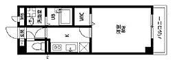 アンプルールフェールバレルコート[2階]の間取り