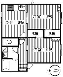 ドミールB[101号室号室]の間取り