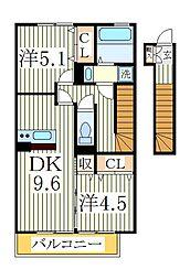 ラフィーユ[2階]の間取り
