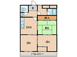 ヤマイチPLAZA東松江[7階]の間取り