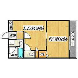 ブランチ613[3階]の間取り