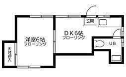 東京都文京区目白台2丁目の賃貸アパートの間取り