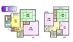 [一戸建] 兵庫県神戸市垂水区桃山台6丁目 の賃貸【/】の間取り