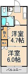 サンステージ竹の塚[204号室]の間取り