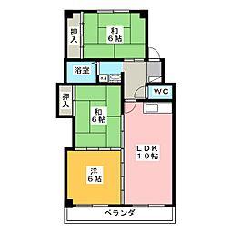 フレグランス松山II[1階]の間取り