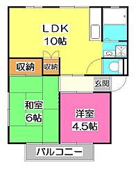 埼玉県所沢市南住吉の賃貸アパートの間取り