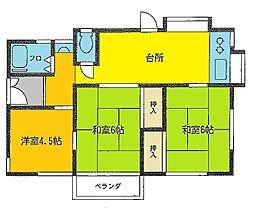 沼間アパート[2F号室]の外観