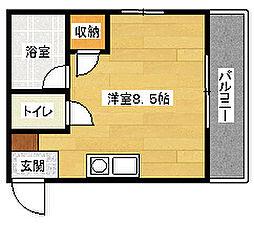 TERAMAE BLD NO.6[102号室]の間取り