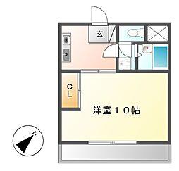 グリーンハイツ徳川[2階]の間取り