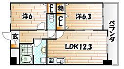 三島マンション[2階]の間取り