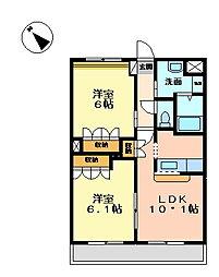 レジアスガーデン[1階]の間取り