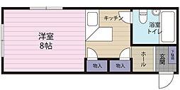 桜川アパートメント[105号室]の間取り
