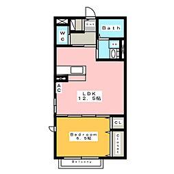 シャイン ユゥ[2階]の間取り