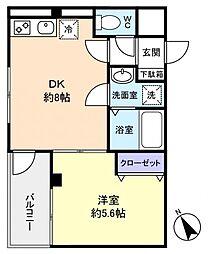 エクセレントコート津田沼[1階]の間取り