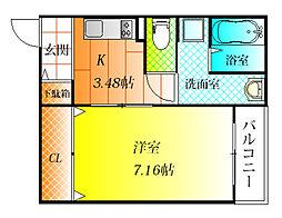 Heights DVG[3階]の間取り