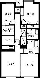 ウイングローブ[3階]の間取り