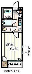 埼玉県さいたま市中央区本町西5丁目の賃貸アパートの間取り
