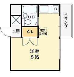 グランディール姫島[302号室]の間取り