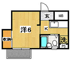 小川ビル[301号室]の間取り