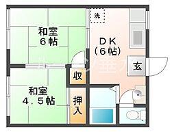 ロイヤルガーデンハイツA棟[1階]の間取り