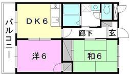 浜田ハイツ[302 号室号室]の間取り