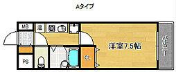 セジュール24[6階]の間取り