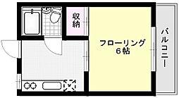 コーポ横山[206号室]の間取り