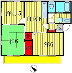 クレストチカヨシ二番館[1階]の間取り