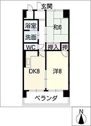 シャトーレ・シン[2階]の間取り