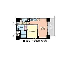 JR山手線 田町駅 徒歩9分の賃貸マンション 4階1LDKの間取り