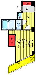 JR山手線 大塚駅 徒歩2分の賃貸マンション 4階1Kの間取り